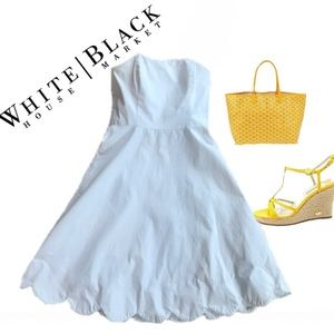 White House Black Market Strapless Dress Sz. 12